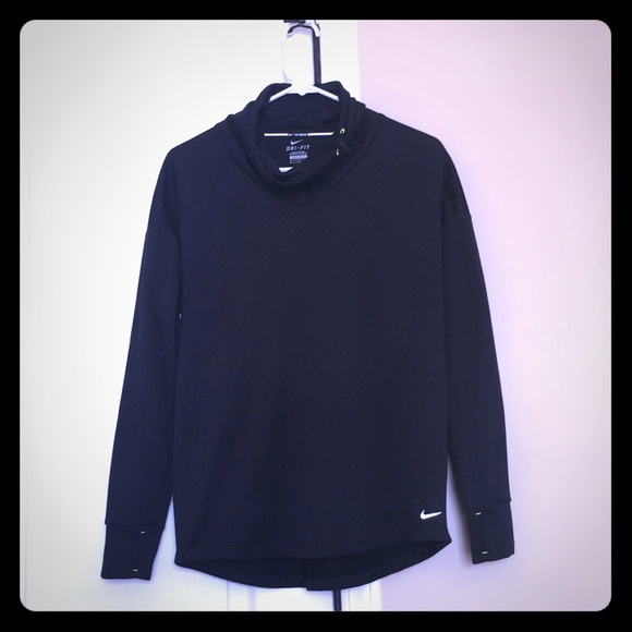 Nike dry fit cowl neck women's running top